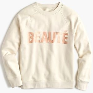 J. Crew BEATUÉ Cream Sweatshirt